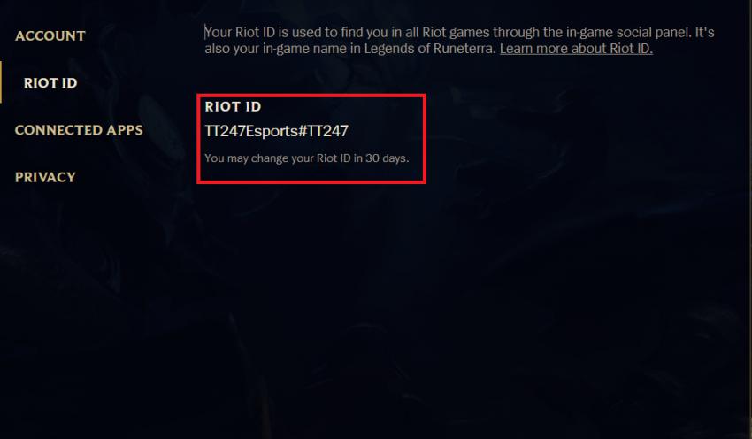 Cách đổi tên, Riot ID Tốc Chiến